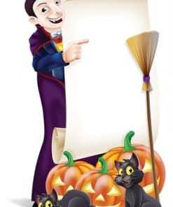Halloween Sign Cardboard Cutout