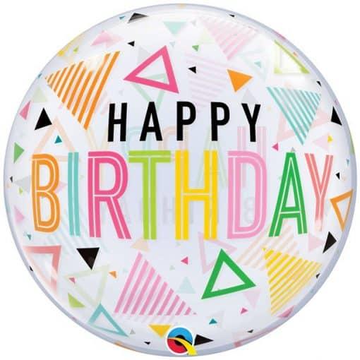 Happy Birthday Triangle Bubble Balloon