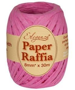 Hot Pink Paper Raffia