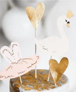 Lovely Swan Cake Toppers