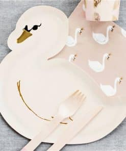 Lovely Swan Shaped Paper Party Plates