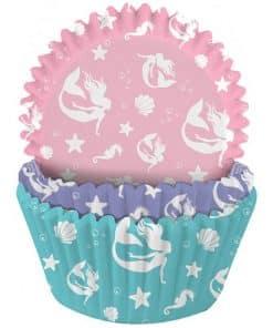 Mermaid Patterned Cupcake Cases