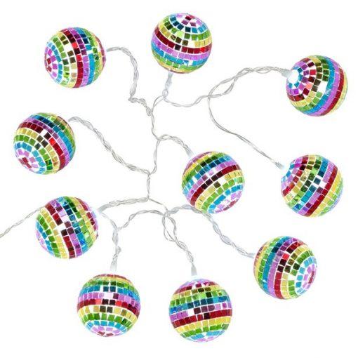 Mini Rainbow Disco Ball Light String