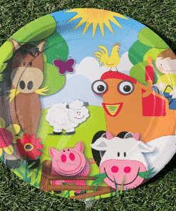 On The Farm Themed Paper Plates for a Farm Party