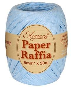 Pastel Blue Paper Raffia