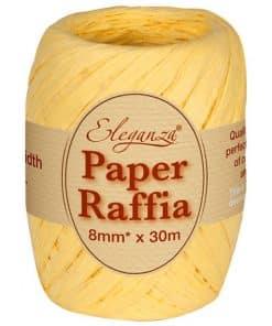 Pastel Yellow Paper Raffia