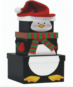Penguin Christmas Stacking Gift Box
