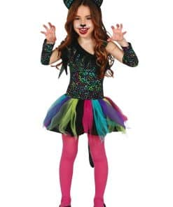 Rainbow Leopard Child Costume