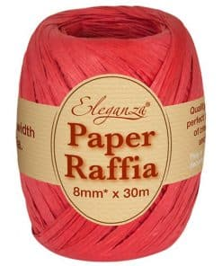 Red Paper Raffia