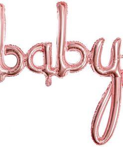 Rose Gold Baby Phrase Balloon