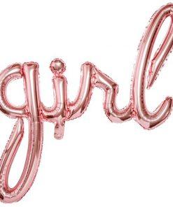 Rose Gold Girl Phrase Balloon