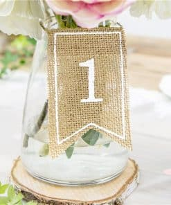Rustic Hessian Table Numbers
