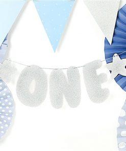 Silver 1st Birthday Banner