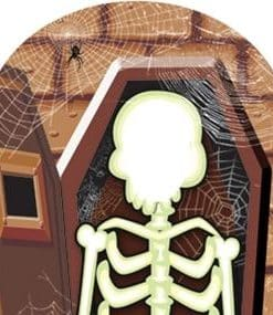 Halloween Skeleton Stand-In Cardboard Cutout