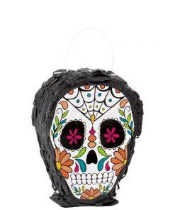 Skull Day of the Dead Mini Pinata Decoration