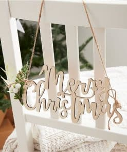 Wooden Merry Christmas Chair Signs