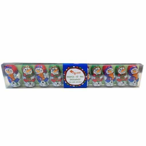 Box of Milk Chocolate Snowmen