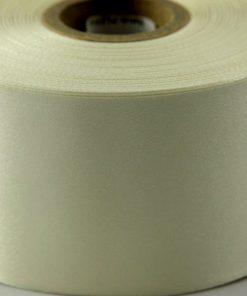 Cream Polyester Satin Ribbon