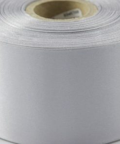 Dark Silver Polyester Satin Ribbon