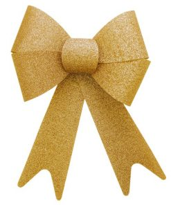 Extra Large Gold Glitter Bow