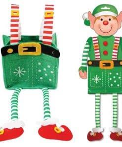 Felt Elf Gift Bag with Legs
