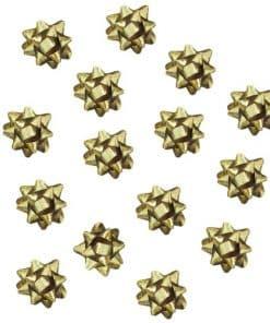 Gold Mini Present Bows