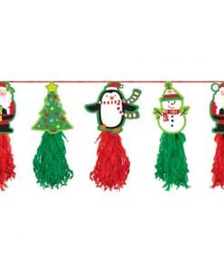 Christmas Holiday Tissue Garland -