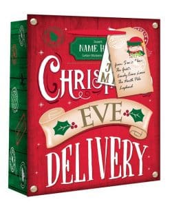 Large Christmas Eve Personalised Delivery Gift Bag