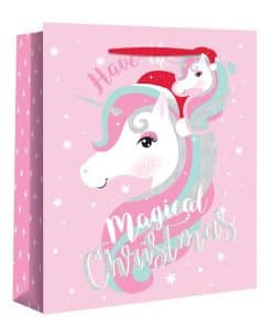 Large Magical Unicorn Christmas Gift Bag