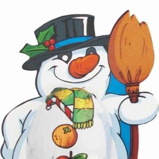 Christmas Snowman Milk Chocolate