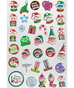 Naughty Elf Bubble Stickers