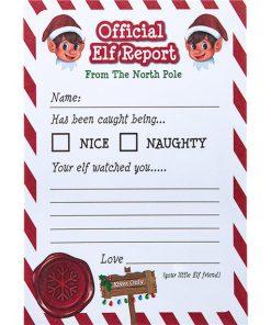 Naughty Elf Report Card