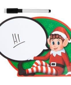 Naughty Elf Speech Bubble Sign