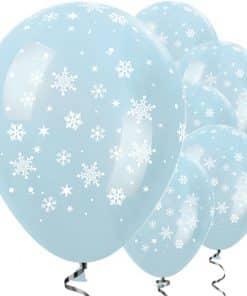 Satin Blue Christmas Balloons