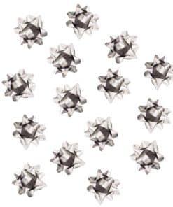 Silver Mini Present Bows