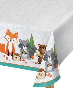 Woodland Animals Plastic Tablecover