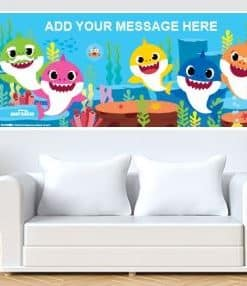 1 x Baby Shark Custom Banner - 6ft x 2.5ft