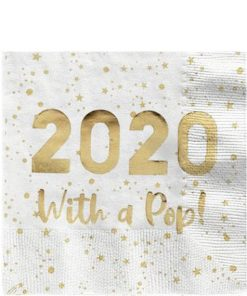 2020 Luxe Gold Cocktail Napkin