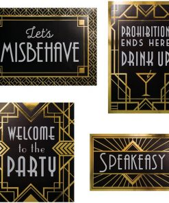 20's Wall Sign Decorations