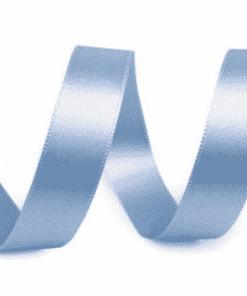 Wide Baby Blue Satin Ribbon Gift Wrapping Cake Ribbon