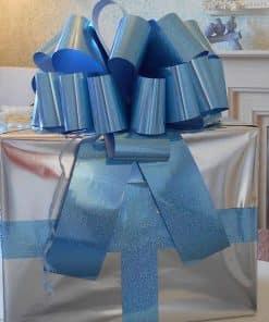 MEGA Holographic Blue Gift Bow