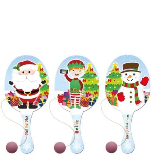 Christmas Paddle Bat & Ball