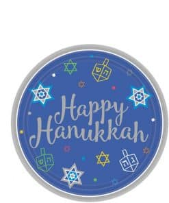 Hanukkah Paper Dessert Plates