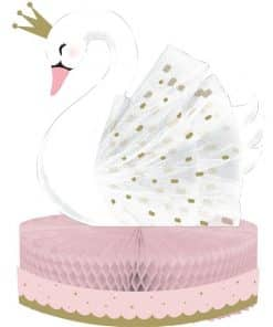Lovely Swan Honeycomb Table Centrepiece
