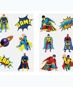 Super Hero Tattoo Sheet
