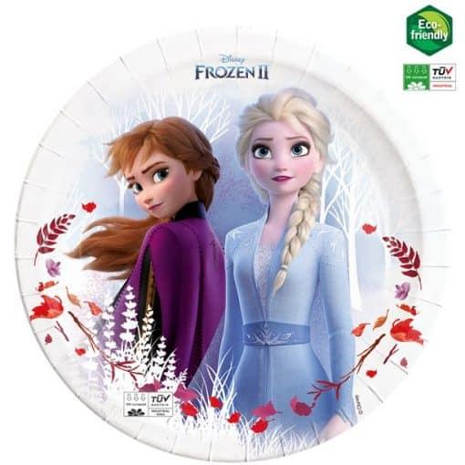 Disney Frozen 2 Party Compostable Paper Plates