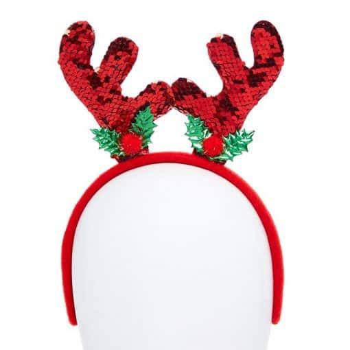 Reindeer Reversible Sequin Headband