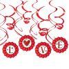 Valentine's Day Fan & Swirl Decorations Kit
