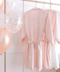Blush Pink Brides Besties Hen Party Dressing Gown