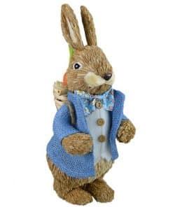 Traditional Straw Bunny Decoration